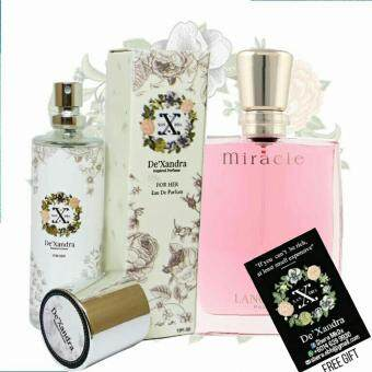 Harga Original Inspired Perfume Lancome Miracle (Original Hologram Sticker + Free Gift)