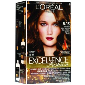 Harga L'Oreal Paris Excellence Fashion #6.13 Golden Nude Brown