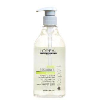 Harga { 2017 New packing} Loreal Pure Resource Hair Shampoo Normal Oily 500ml