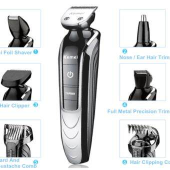Harga (Import) Kemei 5in1 Rechargeable Electric Men Shaver Clipper Groomer Trimmer Travel Set