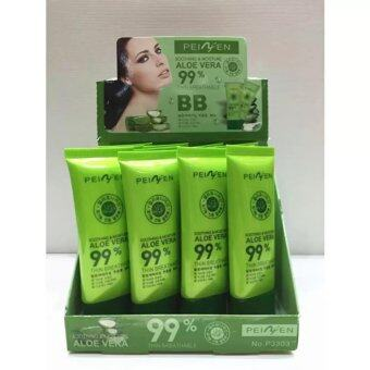 Harga 99% Aloe Vera Soothing & Moisture Thin Breathable Primer and Foundation (1 Box=12pcs)