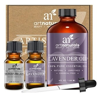 Harga Art Naturals® Lavender Essential Oil 4 oz 3pc Set - Includes Our Aromatherapy Signature Zen Blend 10ml + Travel Size Lavender Oil 10ml - Therapeutic Grade 100% Pure & Natural From Bulgaria