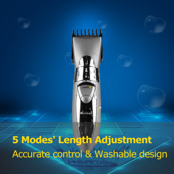 Harga KEMEI KM-605 Electric Hair Clipper Hair Trimmer Rechargeable Hair Shaver Stainless Steel Blade for Adults & Babies EU Plug 5 Attachments Included