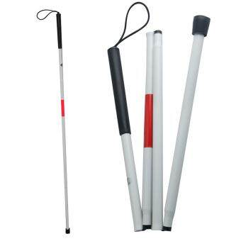 Harga Vinmax 124cm Aluminum Mobility Folding Cane For The Blind White Cane Fold Down 4 Sections