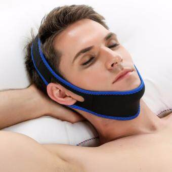 Harga ACEVIVI Nylon Snore Stopping Chin Strap Soft Sleep Anti Snore Strap(Black)