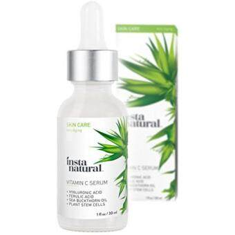 Harga InstaNatural Vitamin C Serum with Hyaluronic Acid & Vit E - Natural & Organic Anti Wrinkle Reducer Formula for Face - Dark Circle, Fine Line & Sun Damage Corrector - Restore & Boost Collagen - 1 OZ