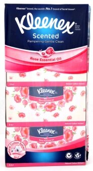 Harga Kleenex Scented Rose Essential Oil Tissue 3 Ply 114 Sheets x 4 Packs