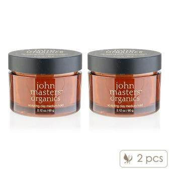 Harga 2 x John Masters Organics Sculpting Clay Medium Hold 2.12oz, 60g