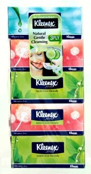 Harga Kleenex Gentle Clean Natural 3 Ply Facial Tissues 5 x 100s