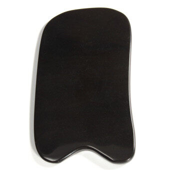 Harga 100% Natural Gua Sha Board Black Buffalo Horn Guasha Healthy Cure Massage Tool
