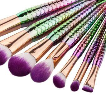 Harga 2017 New 5PCS / 7PCS Makeup Brush Blush Brush Mermaid Makeup Brush Foundation Brush Beauty Tools - 7PCS