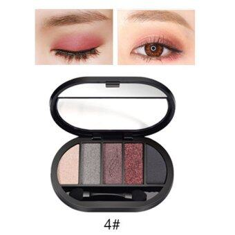 Harga Travel Easy Matte Eye Shadow Makeup 5 Color Glitter Waterproof Natural Eyeshadow Palette Shimmer Easy to Wear Make up