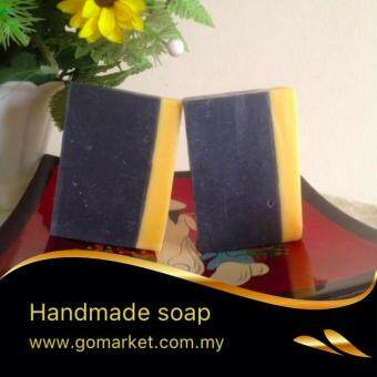 Harga 2x Charcoal Handmade Soap Oil Control Normal/Oily Skin Natural Ingredients, 105g