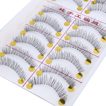 Harga 5 Pairs Natural Eye Lashes Extension Long Fake False Eyelashes Thick Cotton