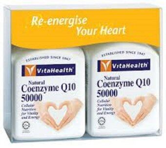Harga Vita Health Natural Coenzyme Q10 50000 Twin Pack (Expiry: 11/2017)