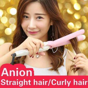 Harga NewView Ceramic Anion Hair Curler Comb Curling Straighting Straightener Roller Iron Fashion Styling Tools 31MM