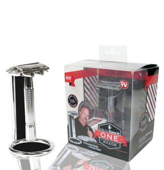 Harga Classic Safety MicroTouch ONE Retro Manual Control Razor 12 Precision Blades +Chrome Stand Shaving Pedestal