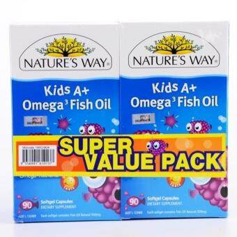 Harga NATURE'S WAY KID A OMEGA 3 FISH OIL 2X90'S
