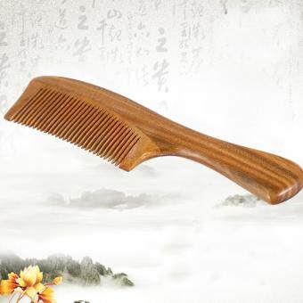 Harga 1PC Natural Handmade Sandalwood Wooden Comb Hair Health Care No-static Head Massage Tool