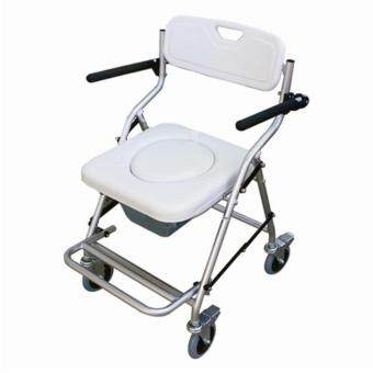 Harga AQ Medicare Aluminium Mobile Commode Chair CMC2670