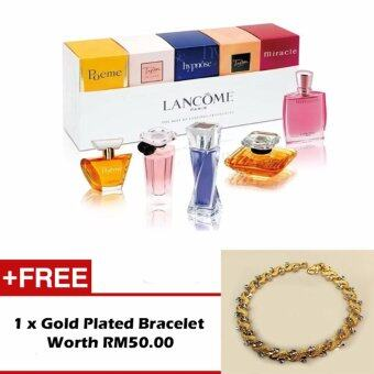 Harga LANCOME The Best Of Lancome Fragrances 5pcs Series Set 1 Free Gold Plated Bracelet