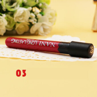 Harga Women Lipstick Lip Color Waterproof Lip Pencil Lip Gloss Lip Pen (3#)-