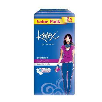 Harga KOTEX Soft & Smooth Overnight Wing 2X16S