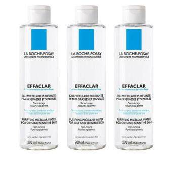 Harga 3 x La Roche-Posay Effaclar Purifying Micellar Water (for Oily and Sensitive Skin) 200ml