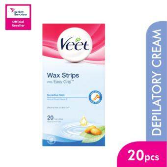 Harga Veet Wax Strip Dry Sensitive 20'S