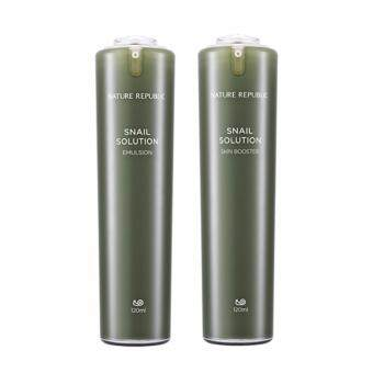 Harga Nature Republic Snail Solution Emulsion 120ml & Booster 120ml