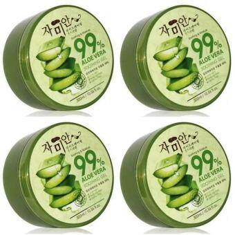 Harga 4 Units of Korea Soothing & Moisture 99% Aloe Vera Soothing Gel (300ml)
