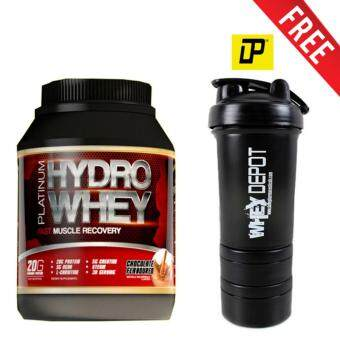 Harga Whey Protein Halal – New Mesotropin Platinum Hydro Whey 1kg, 33 Servings Per Container– Fast Muscle Recovery (Chocolate) + USA Branded 3-in-1 DP Whey Depot/Mass Depot Protein Shaker/Blender/Mixer 16oz/450ml (Black)