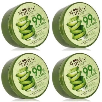 Harga 4 Units Of Nature Republic 99% Aloe Vera Soothing Gel (300ml)