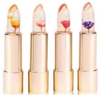 Harga KAILIJUMEI Flower LipStick / Lip Glow / Thailand Popular Lip Stick / Lip Gloss / Cosmetic Frame red
