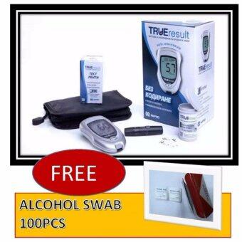 Harga Nipro True Result (Lifetime warranty) Blood Glucose Monitor Meter Glucometer With 50 strips FOC Alcohol Pads