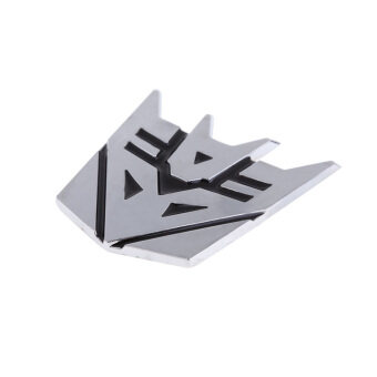 Harga Best Car Logo Decepticon Leader Transformer Car Chrome Badge Emblem 3D logo