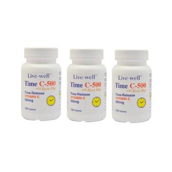 Harga Live-well Time C-500 500mg 2 x 150sLIVE-WELL TIME C-500 500MG 2 X 150 tablets - Free 150 tablets