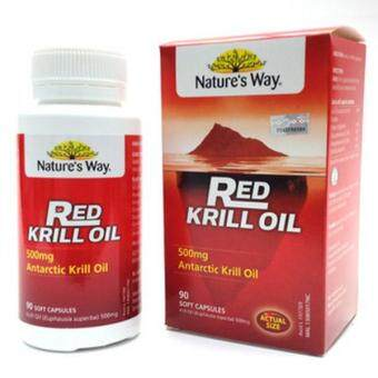 Harga Nature´s Way Red Krill Oil 500mg (90 soft capsules)