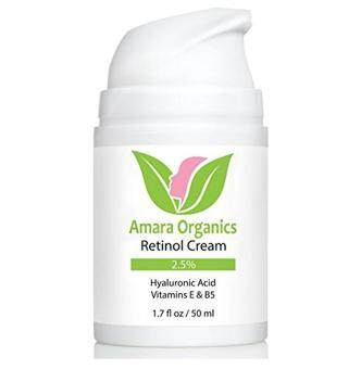 Harga Amara Organics Retinol Cream for Face 2.5% with Hyaluronic Acid & Vitamins E & B5, 1.7 fl. oz