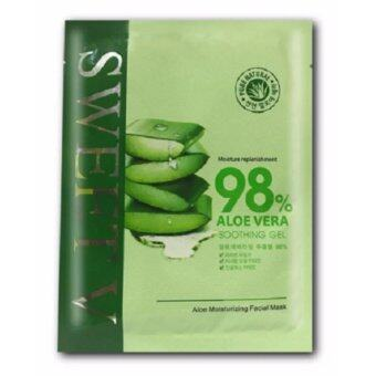 Harga (FREE GIFT) SWEET V - 98% Aloe Vera Soothing Gel Aloe Hydrating/ Moisturizing Face Mask - 10 Pcs