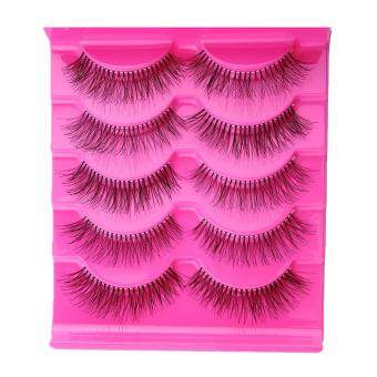 Harga Fashion 5 Pairs Natural Sparse Makeup Long Fake False Eyelashes Thick