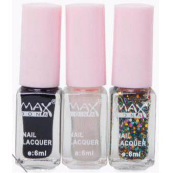 Harga MAXDONA Professional 3-LAYER Gradient Water Based Peel-Off Nail Polish - Code 09 Stardust
