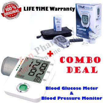 Harga True Result Blood Glucose Monitor Set With 10strips+Medisana Blood Pressure Monitor BU A50 With Adapter