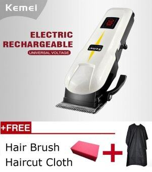 Harga Kemei Powerful LCD Electric Professional Hair Clipper Trimmer Rechargeable Shaver Razor Cordless Adjustable Salon Clipper Haircut