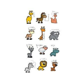 Harga 5 PCS Wyuen Cartoon Animal Temporary Waterproof Body Tattoo Sticker A-097