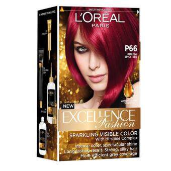 Harga L'Oreal Paris Excellence Fashion [#P66 Intense Spicy Red]