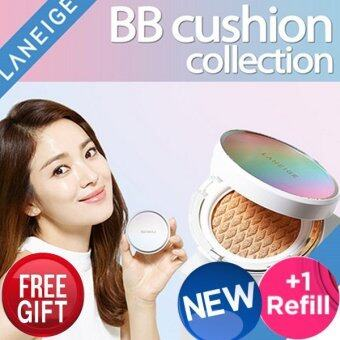 Harga Laneige BB Cushion Pore-Control No.23 Sand (2016 New) 15g + refill 15g (Neo-mall) Free gift