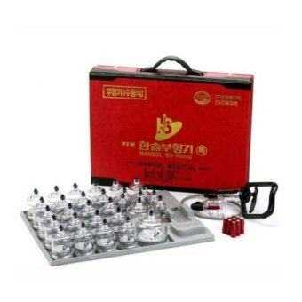 Harga Hansol Professional Cupping Therapy Equipment 30 Cups Set with pumping handle and Extension Tube (Made in Korea)