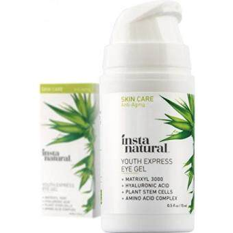 Harga InstaNatural Eye Gel Cream - Wrinkle, Dark Circle, Fine Line & Redness Reducer - Pure & Organic Anti Aging Blend for Men & Women with Hyaluronic Acid - Fight Bags & Lift Skin - 0.5 OZ Travel Size