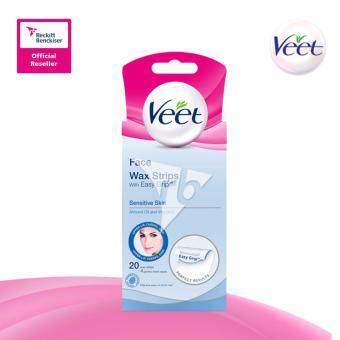 Harga Veet Wax Strip Sensitive (Facial) 20'S